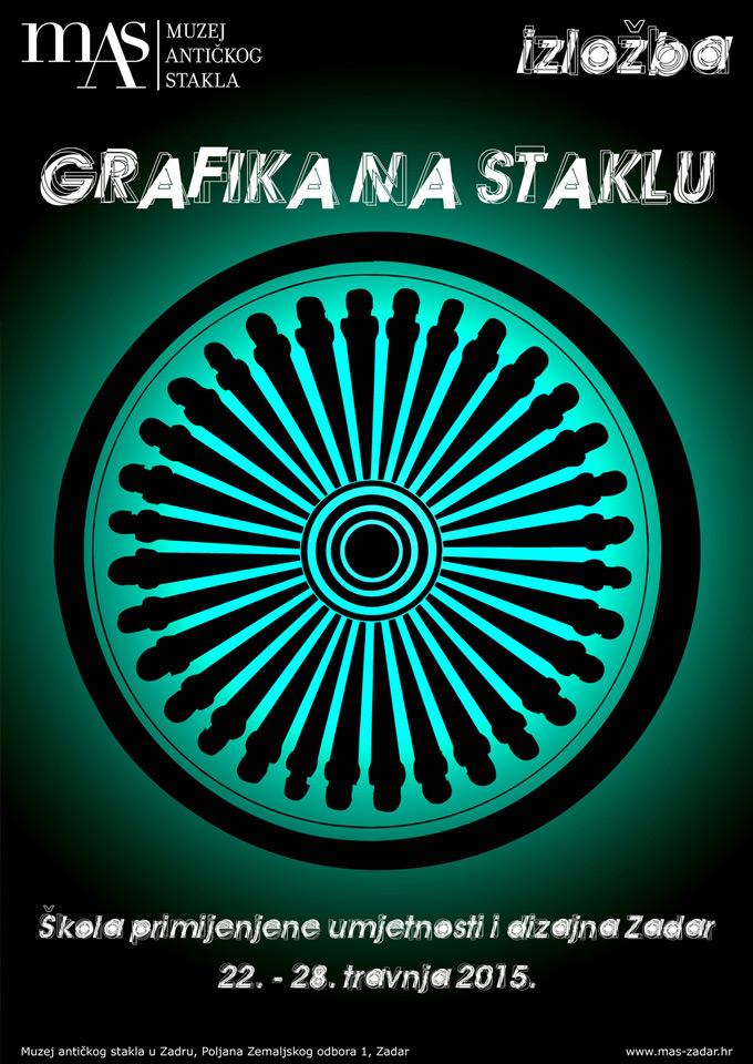 Izložba Grafika na staklu – Škola primijenjene umjetnosti i dizajna Zadar