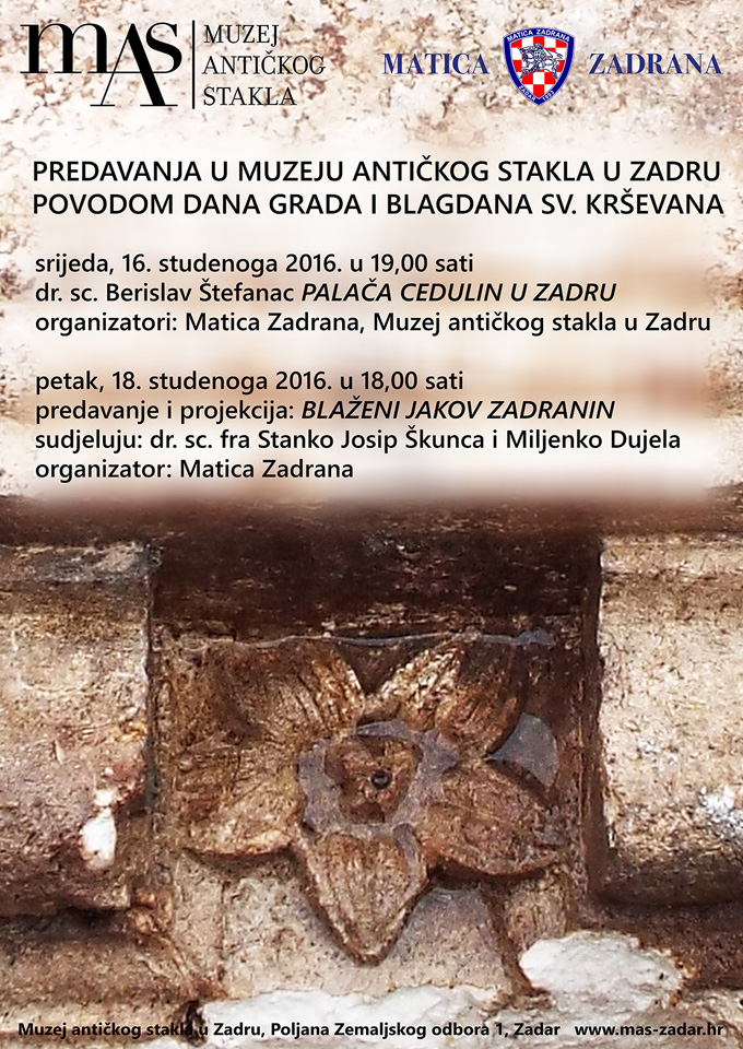 Predavanja u muzeju antičkog stakla u Zadru