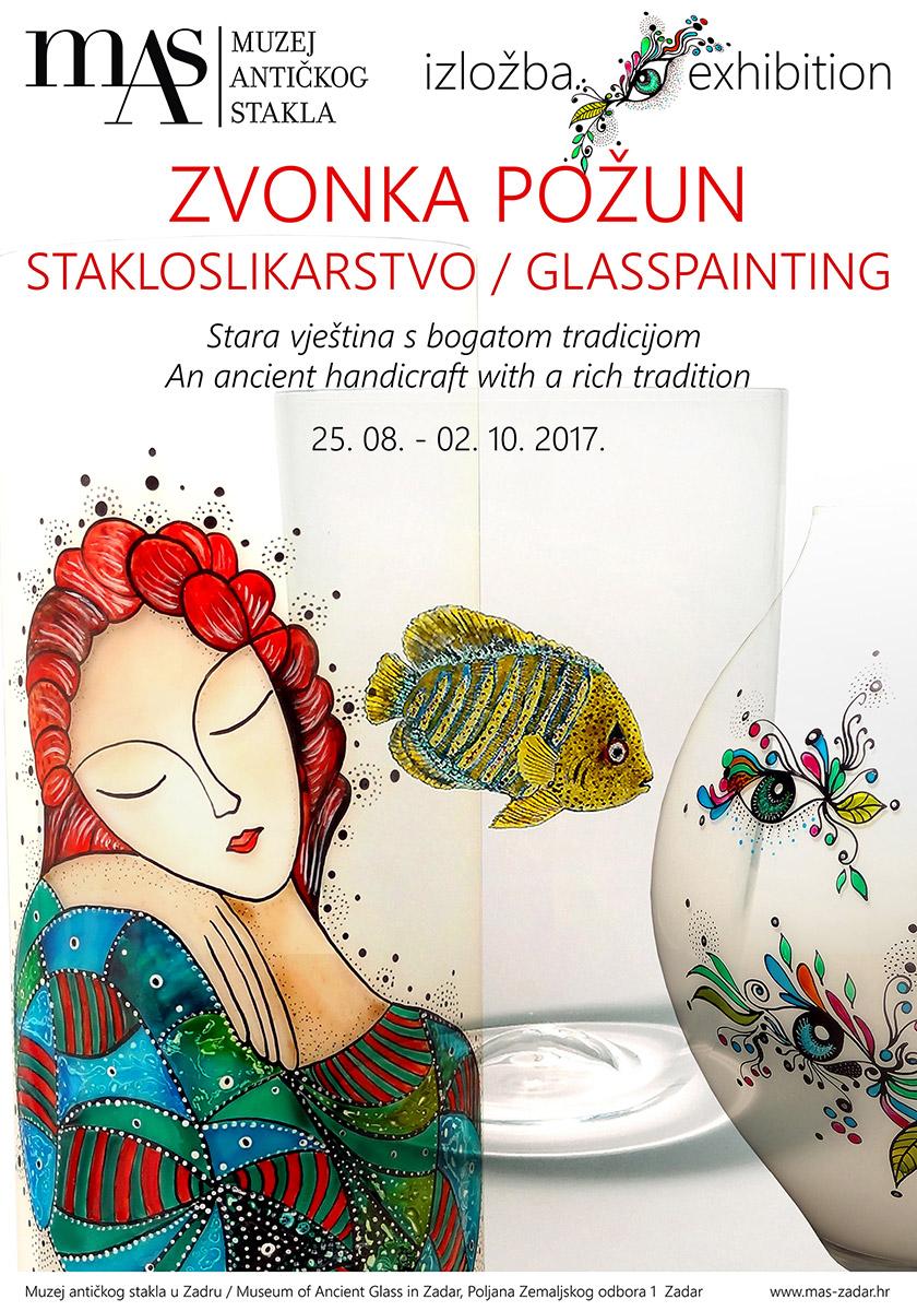 Exhibition - Zvonka Požun – Glasspainting