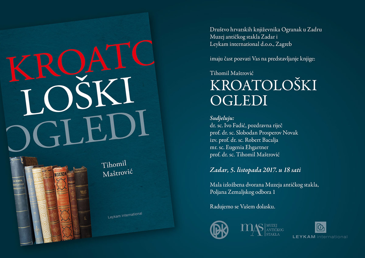Predstavljanje knjige – Kroatološki ogledi